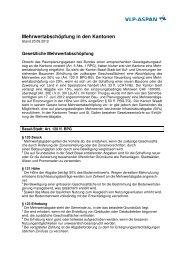 Mehrwertabschöpfung in den Kantonen - vlp-aspan