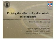 Probing the effects of stellar winds on exoplanets