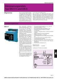 Dämmerungsrelais Typ DS 6 V und DS 6