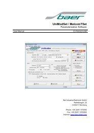 UniModSet / MetcomTSet - baer-gmbh.com