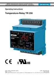 Temperature-Relay TR 250 - ZIEHL industrie-elektronik ... - ziehl.de