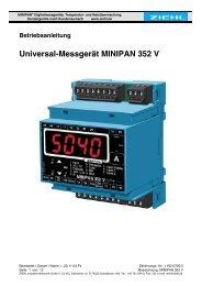 Universal-Messgerät MINIPAN 352 V - Ziehl industrie-elektronik ...