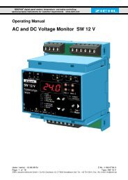 AC and DC Voltage Monitor SW 12 V - Ziehl industrie-elektronik ...