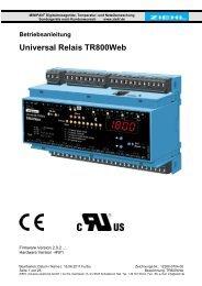 Betriebsanleitung Universal Relais TR800Web - ziehl.de
