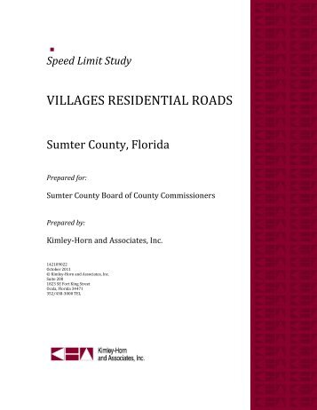 Speed Limit Study