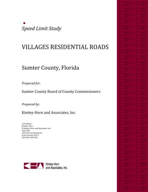 Speed Limit Study