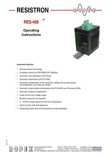 Operating instructions RES-406 - ropex.de