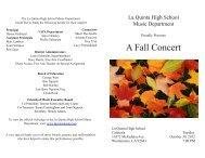La Quinta High School 2012 Fall Orchestra Concert