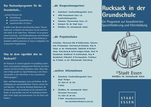 Das Rucksackprogramm für die Grundschule... - Essen