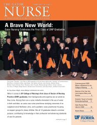 A Brave New World: - College of Nursing - University of Florida