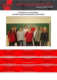 Kandidatinnen und Kandidaten der GEW Hauptpersonalratswahlen ...