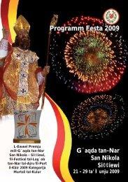Programm Festa 2009 - Ghaqda tan-Nar San Nikola, Siggiewi