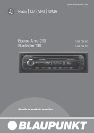 Radio CD MP3 WMA Buenos Aires 200 Stockholm 100 - Blaupunkt