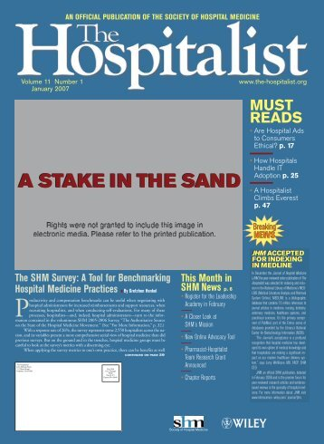 A STAKE IN THE SAND - IPC: The Hospitalist Company