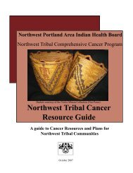 Northwest Tribal Cancer Resource Guide - Native American Programs