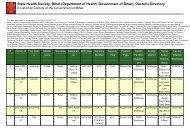 (Department of Health, Government of Bihar): Doctor's Directory
