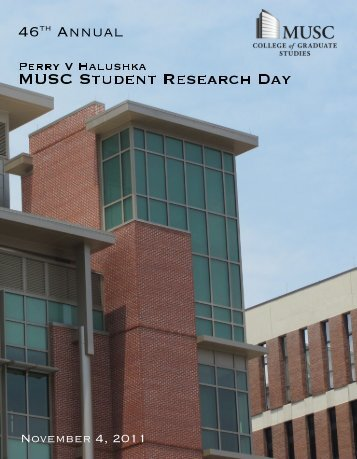 Student Research Day 2011 - Program - The Medical University of ...