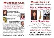 Alina Nowikowa - Musikschule Keinert