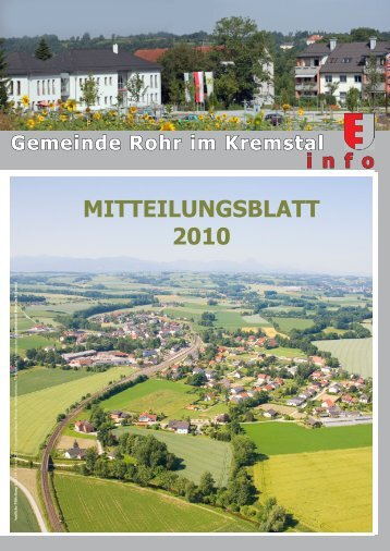 MITTEILUNGSBLATT 2010 - Rohr im Kremstal