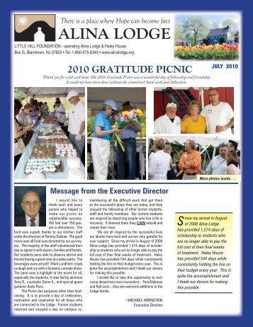 Download Summer 2010 Newsletter - Alina Lodge