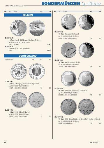 SONDERMÜNZEN in Silber SONDERMÜNZEN in ... - Money Trend