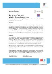 Security-Oriented Model Transformations - Lirmm