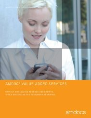 AMDOCS VAlUE-ADDED SERVICES