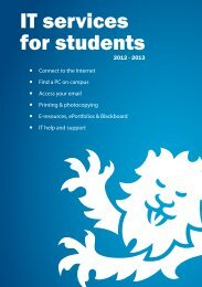 IT services for students - Newcastle University