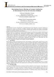 Determining Factors Affecting on Customer Satisfaction - journal ...