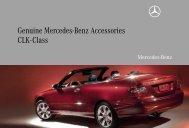 Genuine Mercedes-Benz Accessories CLK-Class - MB-Info