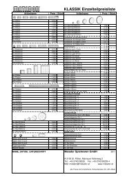 KLASSIK Einzelteilpreisliste - Matador