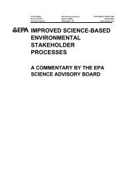 improved science-based environmental stakeholder processes