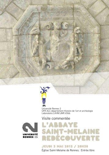 L'abbaye Saint-Melaine redécouverte - Université Rennes 2