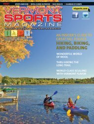 VS Sept FINAL.indd - Vermont Sports Magazine