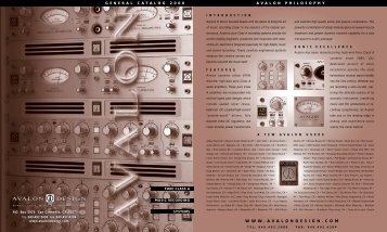 vacuum tube vt-700 series - Avalon