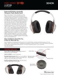 Music Maniac™ AH-D7100 - Denon