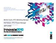 Bernie Coyne, RTC Marketing Manager coyneb@us.ibm.com Rolf ...