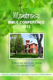 2012 - Montrose Bible Conference