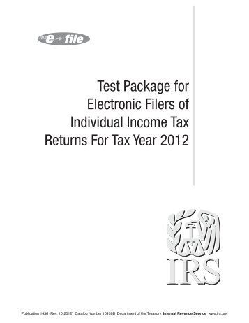 Publication 1436 (Rev. 10-2012) - Internal Revenue Service