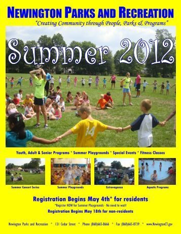Summer 2012 Program Guide - Town of Newington