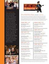 August 11-18 - Elvis Tribute Tour