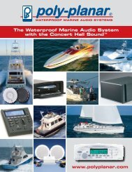 The Waterproof Marine Audio System With The Concert