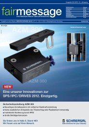 At SPS IPC DRIVES 2012 - fairmessage 2.0