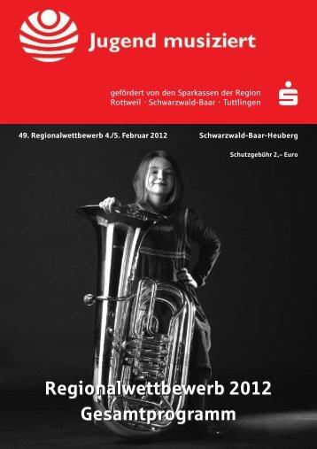 """49. Wettbewerb """"Jugend musiziert"""" 2012 Wertungsprogramm"""