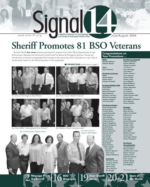Sheriff Promotes 81 BSO Veterans Broward Sheriff S Office