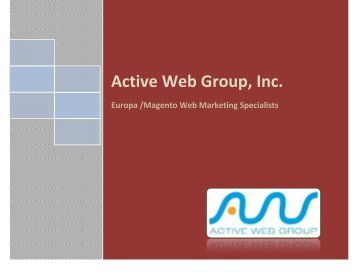 Active Web Group, Inc - Europa Sports Products, Inc
