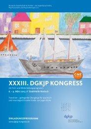 XXXIII. DGKJP KonGress - DGKJP Kongress 2013