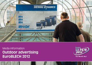 Outdoor advertising - Media information - EuroBLECH 2012