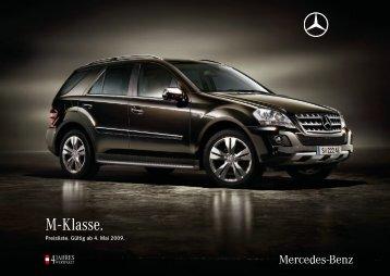 Preisliste M-Klasse - Daimler