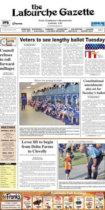 Sunday, November 4, 2012 - The Lafourche Gazette